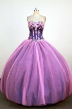 Informal Ball Gown Sweetheart Neck Floor-Length Lavender Appliques Quinceanera Dresses Style FA-S-228