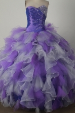 Low Price Ball Gown Strapless Floor-length Colorful Quinceanera Dress X0426020