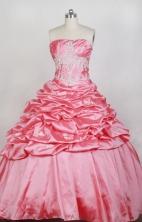 Luxurious Ball Gown Strapless Floor-length Watermelon Quinceanera Dress LZ426080