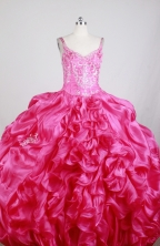 Luxurious Ball Gown Straps Floor-length Florid Quinceanera Dress X0426039