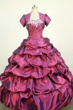 Luxurious Ball Gown Sweetheart Neck Floor-Length Red Beading and Appliques Quinceanera Dresses Style FA-S-286