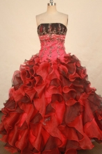 Luxurious Ball gown Strapless Floor-length Quinceanera Dresses Style FA-W-333