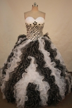 Luxurious Ball gown Sweetheart-neck Sweep Train Quinceanera Dresses Style FA-W-334