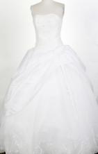 Modest Ball Gown Strapless Floor-length Quinceanera Dress ZQ12426016