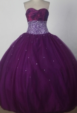 Perfect Ball Gown Strapless Floor-length Burgundy Quinceanera Dress X0426010