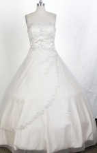 Perfect Ball Gown Strapless Floor-length Quinceanera Dress ZQ12426017