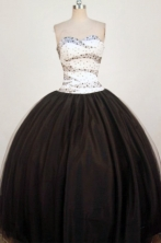 Perfect Ball Gown Sweetheart Neck Floor-Lengtrh Black Quinceanera Dresses Style FA-S-205