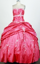 Popular Ball Gown Strapless Floor-length Hot Pink Quinceanera Dress Y0426224