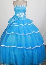 Pretty Ball Gown Strapless Floor-length Quinceanera Dress ZQ12426054