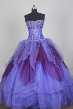 Romantic Ball Gown Strapless Floor-length Quinceanera Dress LZ426032