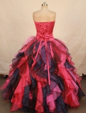 Special ball gown strapless floor-length organza beading multi colors quinceanera dresses FA-X-148