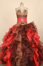 Unique Ball Gown Strapless Floor-length Quinceanera Dresses  Beading Style FA-Z-0331