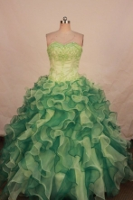 Wonderful Ball gown Strapless Floor-length Quinceanera Dresses Style FA-W-359