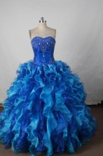Wonderful Ball gown Strapless Floor-length Quinceanera Dresses Style FA-W-360