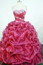 Beautiful Ball Gown Sweetheart-neck Floor-length Quinceanera Dresses Style FA-W-313