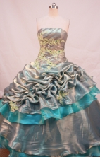 Beautiful Ball gown StraplessFloor-length Quinceanera Dresses Appliques with Beading Style FA-Y-0059
