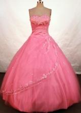 Brand New Ball Gown Sweetheart Floor-length Watermelon Taffeta Beading Quinceanera Dress StyleFA-L-118