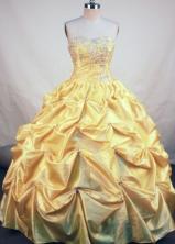 Elegant Ball Gown Sweetheart Floor-length Orange Taffeta Quinceanera Dress Style FA-L-112
