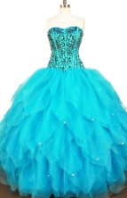 Exclusive Ball Gown Sweetheart Floor-length Quinceanera Dresses Appliques Style FA-Z-0327