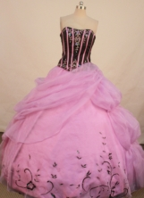 Fashionable Ball Gown Strapless Floor-length Light Pink Beading Quinceanera Dress Style FA-L-137