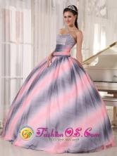 Ombre Color Wholesale Quinceanera Dress with Sweetheart Beading and Ruch Chiffon Ball Gown in 2013 Fall In Atyra Paraguay Style PDZYLJ008FOR