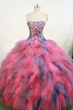 Popular Ball Gown Strapless Floor-length Quinceanera Dresses Style FA-W-300