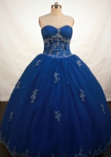 Popular Ball Gown Sweetheart Floor-length Royal Blue Quinceanera Dress Style FA-L-114