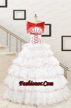 Popular White Sweet 16 Dresses with Appliques FNAO415AFOR