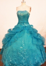 Beautiful Ball Gown Strapless Floor-length Quinceanera Dresses Embroidery Style FA-Z-0314