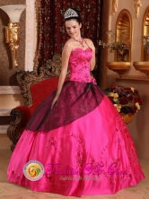Spring Hot Pink For Brand New Quinceanera Dress Embroidery and Sweetheart with Beading  IN  El Sauce Nicaragua  Style QDZY359FOR