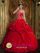 2013 Recife Brazil Beading and Appliques Yet Pick-ups Decorate Bodice Wonderful Red Sweet 16 Dress For Celebrity Style QDZY207FOR