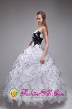 2013 San Marcos Guatemala Sweetheart Applqiues and Ruffles For The multi-color Sweet 16 Custom Made Dresses Style ZYLJ20FOR