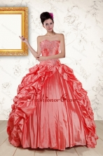 2015 Beautiful Sweetheart Beading Quinceanera Dresses in Watermelon XFNAO265FOR