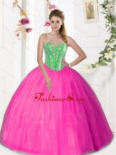 2015 Beautiful Sweetheart Quinceanera Dresses with Beading and Pick Ups QDDTA31002-1FOR