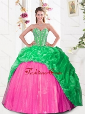 2015 Beautiful Sweetheart Quinceanera Gown with Beading and Pick Ups QDDTA30002FOR