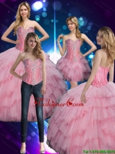 2015 Fall Elegant Sweetheart Baby Pink Quinceanera Dress with Beading SJQDDT77001FOR