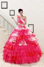 2015 One Shoulder Pretty Quinceanera Dresses in Multi Color XFNAO239FOR