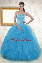 2015 Remarkable Beading Quinceanera Dresses in Baby Blue XFNAO021FOR