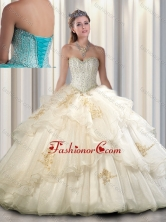 2016 Beautiful Quinceanera Dresses with Beading and Appliques SJQDDT296002FOR