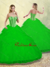 2016 Beautiful Ruffles and Beading Detachable Quinceanera Dresses SJQDDT253002-4FOR