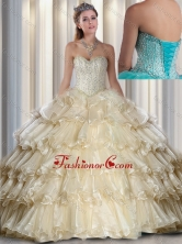 2016 Hot Sale Sweetheart Beading and Ruffled Layers Quinceanera Dresses SJQDDT291002FOR