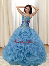 Beautiful Appliques and Rolling Flowers Multi Color Quinceanera Dresses SJQDDT20002FOR