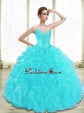 Beautiful Appliques and Ruffles Aqua Blue Quinceanera Dresses SJQDDT28002-3FOR