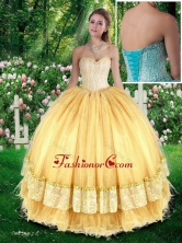 Beautiful Ball Gown Quinceanera Gowns with Beading for Fall SJQDDT285002FOR