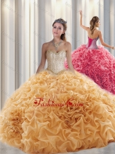 Beautiful Ball Gown Sweetheart Beading Quinceanera Dresses with Brush Train SJQDDT313002FOR