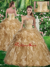 Beautiful Ball Gown Sweetheart Sweet 16 Gowns in Champagne SJQDDT336002FOR