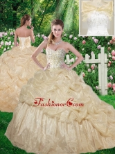 Beautiful Beading 2016 Sweet 16 Dresses with Brush Train SJQDDT335002FOR
