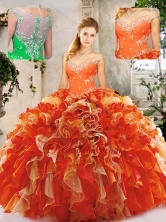Beautiful  Beading Quinceanera Dresses in Multi Color SJQDDT238002FOR