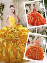 Beautiful Beading and Ruffles Quinceanera Dresses in Multi Color SJQDDT231002-1FOR
