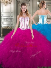 Beautiful Really Puffy Tulle Quinceanera Gown with Beading and Ruffles YYPJ024FOR